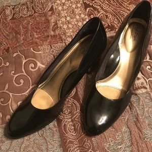 Nearly new Black Patent Leather Pumps